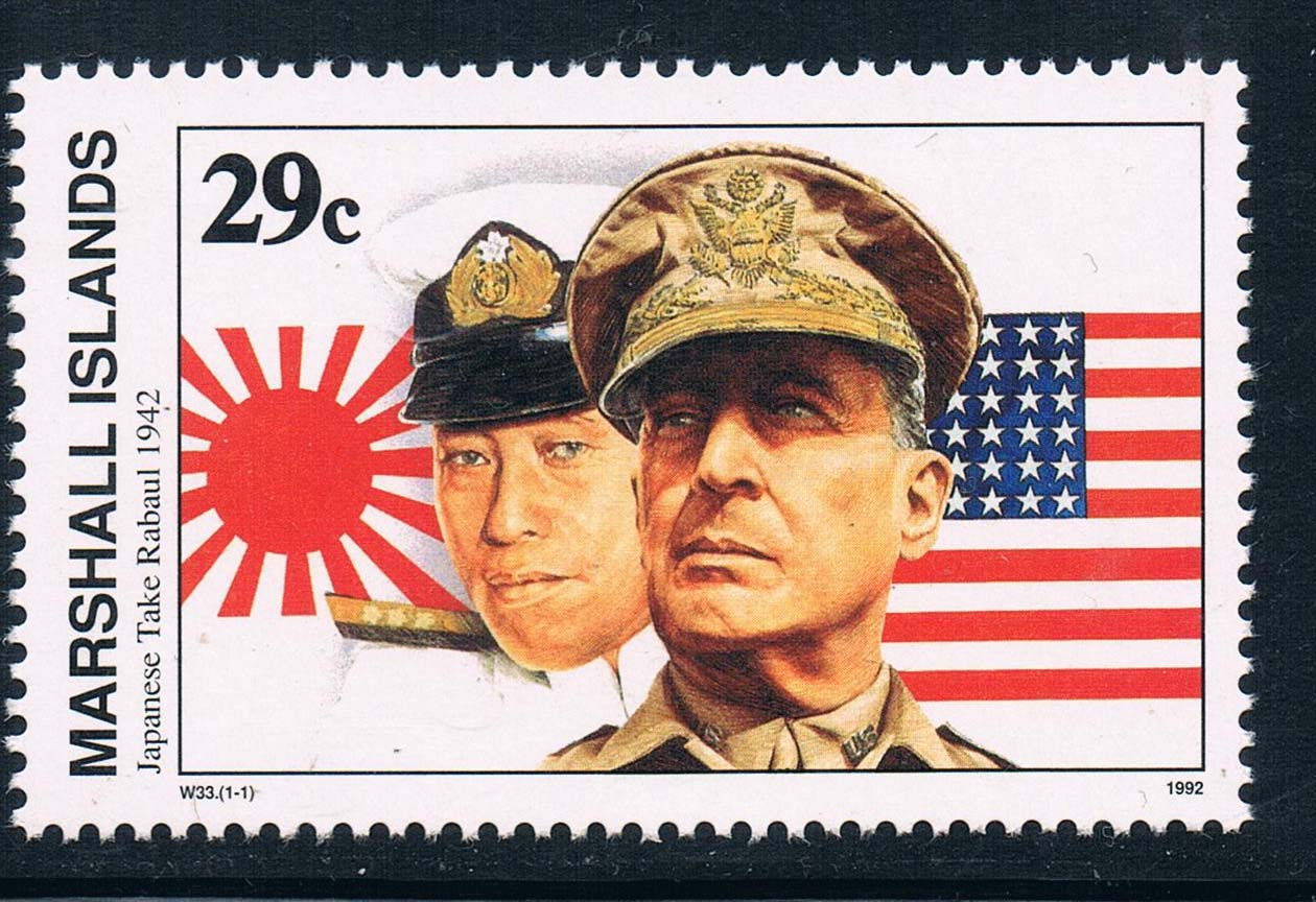 马绍尔群岛1992二战系列日军占领拉布尔 中邮