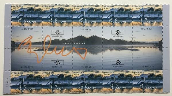 奥兰群岛2016年《我的奥兰系列》邮票 10枚带精美过桥