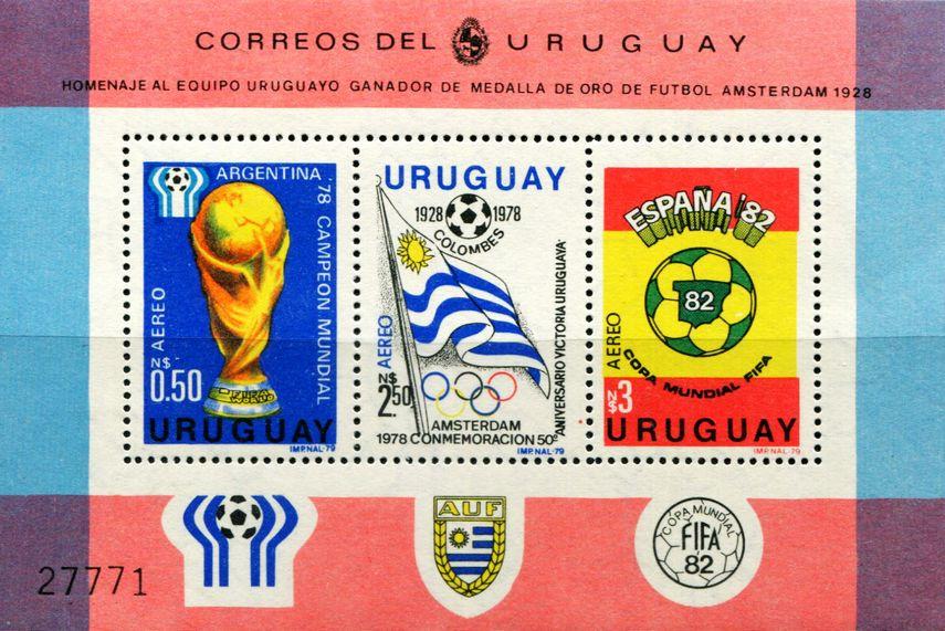乌拉圭1979世界杯足球赛国旗等小全张 中邮网