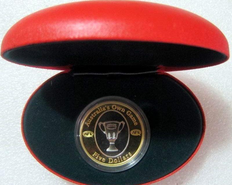 澳大利亚2004足球联盟镀金纪念币 中邮网[集邮